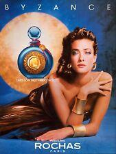 ▬► Parfum Perfume ROCHAS Byzance Femme Original French Print ad Publicité 1989