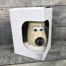 More details for wallace & gromit mug gromit shaped hand painted mug 2005 pg tips aardman boxed