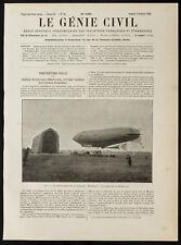 """1909, Le hangar du dirigeable """"République"""". Aéronautique & aviation."""