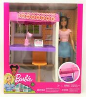 Barbie You Can Be Anything Loft Bunk Bed Office Chair Room and Doll Playset Toy