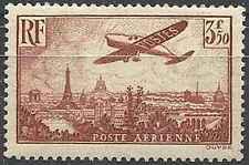 Timbre France Poste aérienne PA13 ** lot 20810 - cote : 120 €