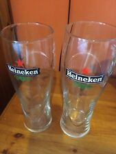 LOVELY HEINEKEN PINT BEER GLASS HEINEKEN AND STAR ETCHED IN SIDE
