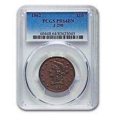"1862 $10 Gold ""God Our Trust"" Pattern PR-64 PCGS (Brown, J-298)"