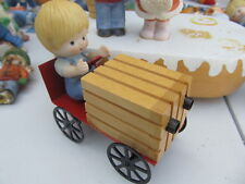 Enesco Country Cousins Scooter with go kart/wagon