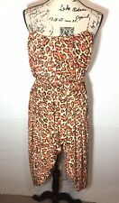 Suzi Chin For Maggy Boutique Hi-Low Dress Size 6 Cheetah Orange
