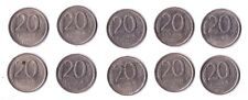 Wholesale Dealers Lot 10 pieces 20 Russia Ruble 1992 Coins Y# 314