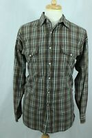 Men's Panhandle Slim Vintage Western Style Shirt Pearl Snap Plaid 100% Cotton