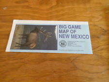 Big Game Units of New Mexico Guide Circa 1991 Free Domestic Shipping
