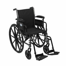Cruiser III Light Weight Wheelchair With Flip Back Removable Arms Adjustable H