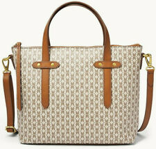 Fossil Felicity Signature Satchel Crossbody Bag Taupe Tan NWT SHB2312939 $138