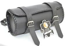 Motorcycle Motorbike Genuine Leather Tool Roll Saddle Bag Tr1