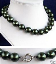 """12mm South Sea Black Shell Pearl Necklace 18"""" AAA+"""