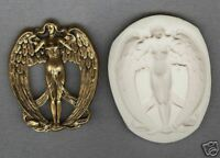 Lg ART NOUVEAU ANGEL Polymer Clay Push Mold MUST SEE!!!