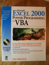 Microsoft Excel 2000 Power Programming with VBA by John Walkenbach (1999,...