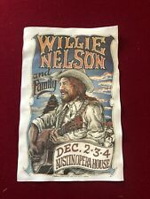 1979 Willie Nelson and Family Austin Opera House Poster Concert poster