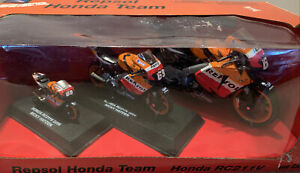 Repsol Honda Team RC211V 2007 Nicky Hayden Die-Cast Models (3 Bikes In Pack) NEW