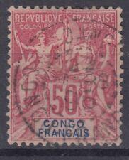 CONGO FRANCAIS : TYPE GROUPE 50c N° 22 OBLITERATION CHOISIE