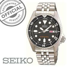 Seiko SKX013K2 Divers Black Dial Stainless Steel Silver Mens Watch RRP £369
