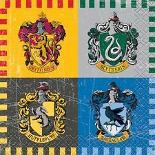 HARRY POTTER Hogwarts Houses SMALL NAPKINS (16) ~ Birthday Party Supplies Cake