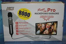 MAGIC MIC PRO, GPX +G, Karaoke Recording - 8000 Songs English/Ingles sing II