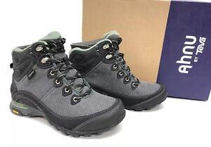 Ahnu By Teva Sugarpine II Waterproof Boots Black Green Bay Hiking Boots 1019231