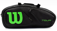 Wilson Tour V 15PK Tennis Racket Black Racket Racquet Equipment Bag WRZ-845615