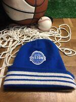 Adult Detroit Pistons blue winter hat beanie cap Detroit proud h1