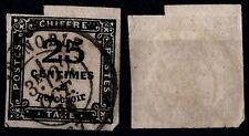 TIMBRE TAXE 25c noir ND, Oblitéré = Cote 100 € / Lot Timbre France Taxe n°5
