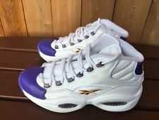 f332b074f23 Reebok Kobe Question Mid Mens Basketball Leather Shoes Sneakers V53581 Size  8
