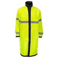 New Blauer High-Vis Yellow Defender 26990 Reversible Rain Jacket Mens Sm Short