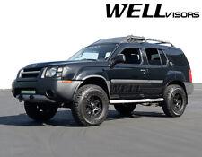 WellVisors For 99-04 Nissan Xterra BLACK TRIM Side Window Visors Rain Guards