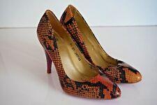 Faith Marta Snake Print Stiletto Shoes Tan Pink - Size 5