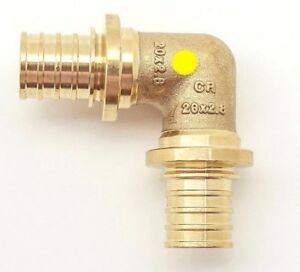 8x Rehau BRASS 90-DEGREE ELBOW No.12 Water & Gas*German Brand-16mm, 20mm Or 25mm