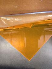 "ORANGE FLUORESCENT ACRYLIC PLEXIGLASS 1/8"" X 8"" X12"" PLASTIC SHEET"