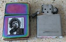More details for original zippo spectrum lighter -customised for a jimi hendrix theme -used