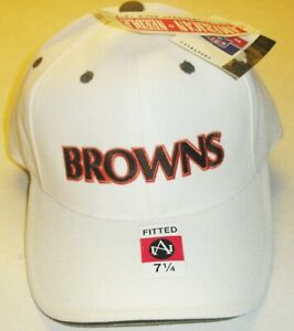 Cleveland Browns All White American Needle VIntage 90s Fitted hat sz. 7 1/4 New