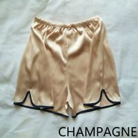 Women Satin Knickers Shorts Panties Underpants Underwear Sleepwear Elastic Waist