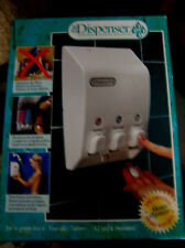 Shower Dispenser 3-Chamber Classic White by Better Living Products NEW #71355