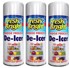 3x Fridge Freezer De Icer Spray Defrost Ice Quickly Anti Bacterial Deicer 200ml