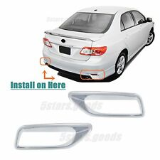 Accessories Chrome Pair Rear Fog Light Covers For Toyota Corolla 2011-2013