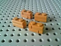 Lego Brick with Masonry Effect 1x2 [98283] Light Brown Beige x4