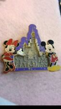 Authentic Walt Disney Mickey Mouse Minnie Castle Puzzle Maze Ball Pin