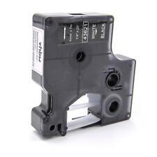 Cassette de cinta 6mm B/N para Dymo LabelManager 400, 420P, 450, 450D
