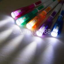 Funny Cute LED Light Lamp Torch Point Pen Ballpen Lovely Gift School Supplies UK