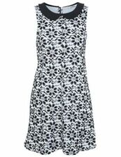 Polyester Floral Petite Dresses Collar for Women
