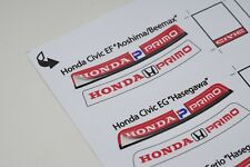 StreetBlisters 1/24 Honda Primo Windshield Banners Stickers / autocollant Vinyl