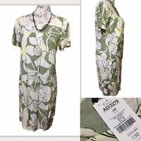 BRAND NEW NEXT UK 16 Tall Pastel Green Floral Shift Dress RRP £30 Summer Hippie