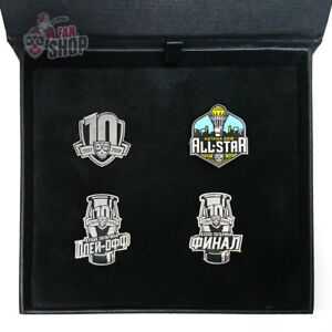 KHL pin set, official collection 10th season 2017-2018, Russia, Ice Hockey