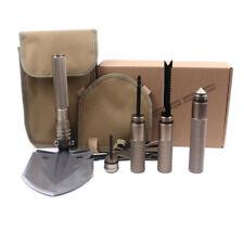 6 in1 Utility Ordnance Folding Camping Shovel Outdoor Self-defense Survival Tool