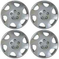 """4 piece SET Hub Caps ABS Silver 15"""" Inch Wheel Cover for OEM Rims Cap Covers"""